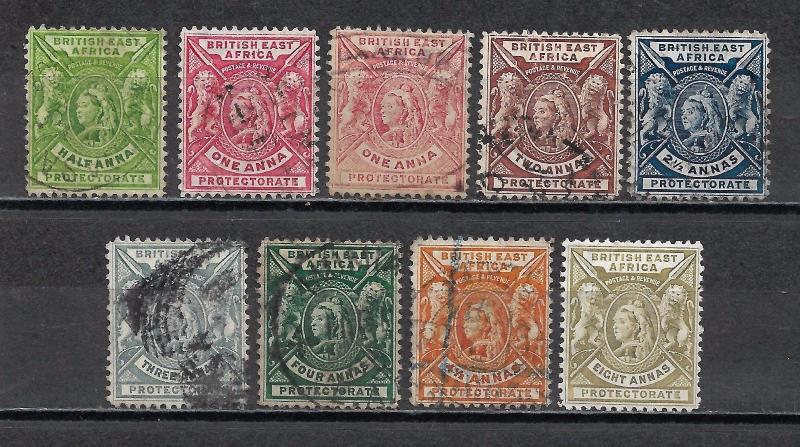 BRITISH EAST AFRICA 1896 QV Mint & Used.