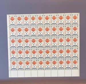C54, Balloon Jupiter, Mint Sheet, CV $23.00
