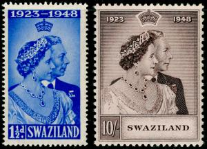 SWAZILAND SG46-47, COMPLETE SET, NH MINT. Cat £40. RSW.