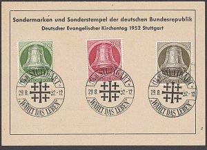 GERMANY 1952 Postcard - Evangelic Church cancel - nice franking.............B330