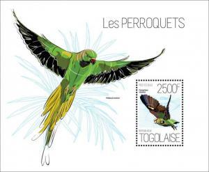 Togo - Parrots - Poicephalus Robustus - Stamp Souvenir Sheet - 20H-690