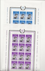 Suriname 1961 Hammearskjod sheets of 12   MNH