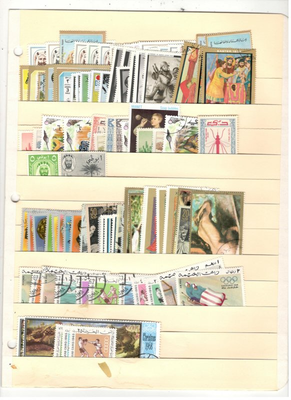 MIDDLE EAST COLLECTION ON STOCK SHEETS