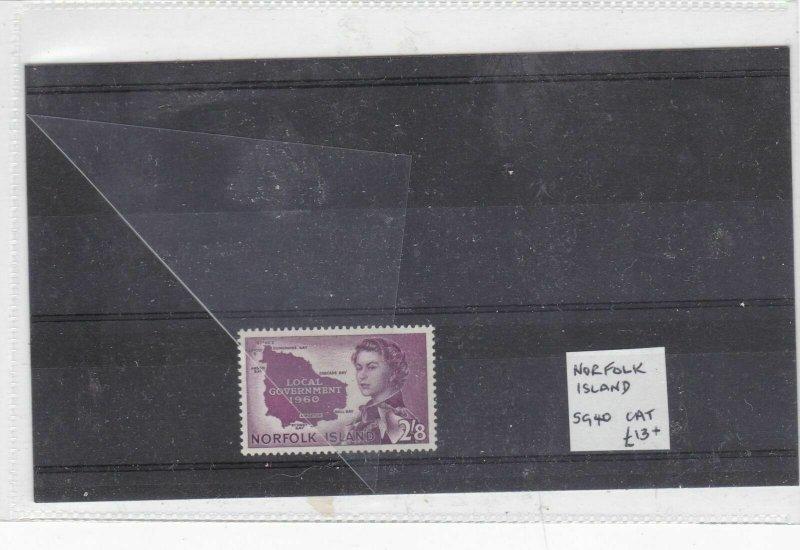 norfolk island mounted mint stamp  Ref 9377
