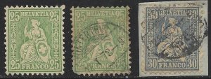 Switzerland #55 Used and Unused OG and #56 Used!!  Very Nice and Fresh!!
