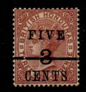 British Honduras Sc 35 1891 5c on 3c on 3d Victoria stamp mint