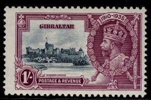 GIBRALTAR GV SG117, SILVER JUBILEE, 1s slate & purple, LH MINT. Cat £18.