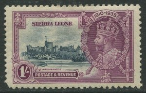 STAMP STATION PERTH Sierra Leone #169 Silver Jubilee 1935 MH