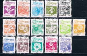 Nicaragua 1209-24 Used Set Flowers (N0248)