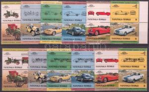 Tuvalu-Nanumaga stamp Cars (I) 6 pairs + SPECIMEN MNH 1984 Mi 1-12 WS143040