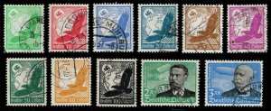 Germany #C46-C56 Set of 11; Used (4Stars)