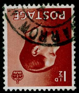 SG459Wi, 1½d red-brown, FINE USED. WMK INVERTED.