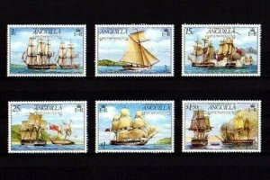 ANGUILLA - 1976 - SAILING SHIPS - WARSHIPS - BATTLE OF ANGUILLA - 6 X MNH SET!