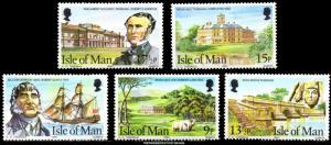 Isle of Man Scott 177-181 Mint never hinged.