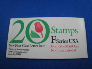 UNITED STATES STAMP BOOKLET PANE #2519a