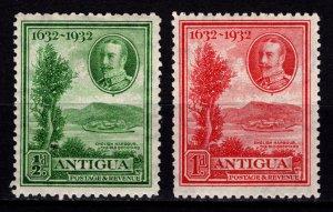 Antigua 1932 Tercentenary (George V), ½d & 1d [Unused]