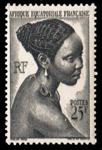 French Equatorial Africa Scott 184 Unused lightly hinged.