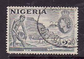 Nigeria-Sc#93b- id5-used 2d-Mining-1956-7-