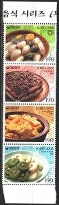 South Korea. 2002. 2249-52. Food, desserts, national cuisine. MNH.