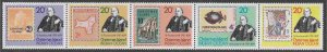 Christmas Island MNH Strip 90a-e Sir Rowland Hill Stamps On Stamps