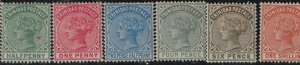 Trinidad 1883-1884 SC 68-73 Mint SCV $96.00 Set