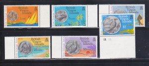 Virgin Islands 254-259 Set MNH Coins On Stamps