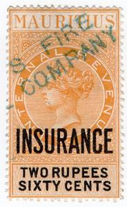 (I.B) Mauritius Revenue : Insurance 2R 60c