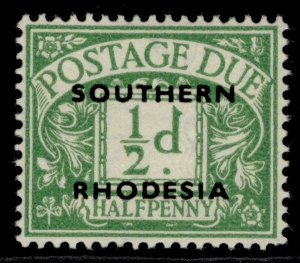 SOUTHERN RHODESIA GVI SG D1, ½d emerald, LH MINT.