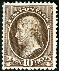 US Stamps # 209 MLH XF Fresh Scott Value $160.00