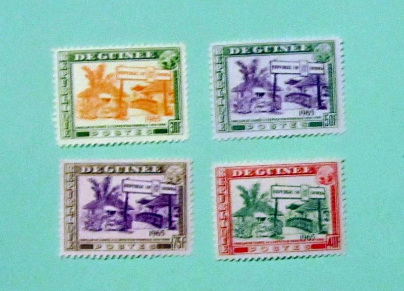 Guinea - 372-75, MNH Set. World's Fair, 1965. SCV - $2.60