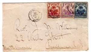 Haiti 1896 Scott 32, 33 and 36 envelope to Providence Rhode Island, USA