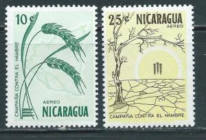 Nicaragua C521-2 1963 Freedom from Hunger set NH