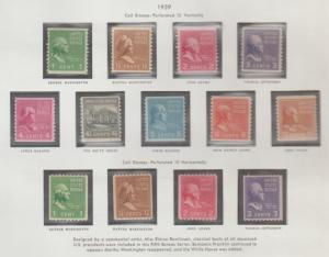 U.S. Scott #839-851 Presidential Stamps - Mint Set