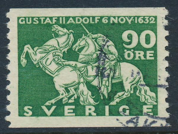 Sweden Scott 235 (Fa 237), 90ö green Lützen, VF-XF Used