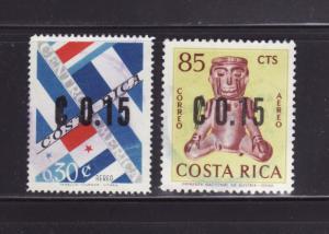 Costa Rica C396-C397 U Various (B)