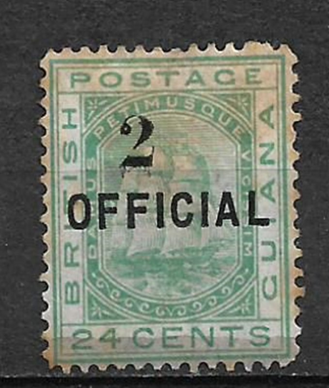 COLLECTION LOT #698 BRITISH GUIANA # 100 UNUSED NO GUM 1881 STAINED CV= $950