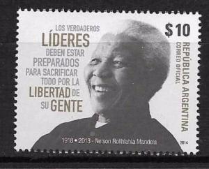 ARGENTINA 2014,SOUTHAFRICA LEADER NELSON MANDELA  NOBEL PRIX Yv 3070 GJ 4078 MNH