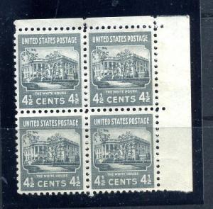 809 Plate Block of 4 Mint NH
