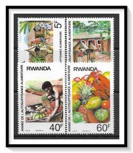 Rwanda #1278-1281 Food Production Set MNH