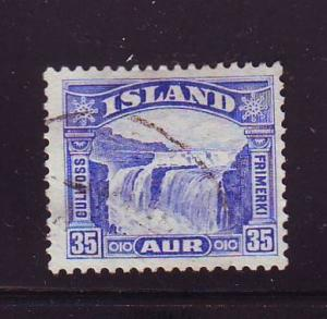 Iceland Sc 172 1931 35 a Golden Falls stamp used