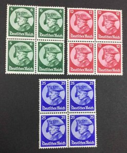MOMEN: GERMANY SC #398-400 BLOCKS 1937 MINT OG NH LOT #62799