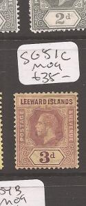 Leeward Islands 3d SG 51c VFU (8cdz)