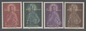 Portugal 1958 Queen St Isabel set Sc# 832-35 NH