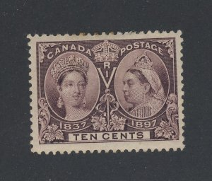 Canada Victoria Jubilee MH Stamp #57-10c MH VF Guide Value = $250.00