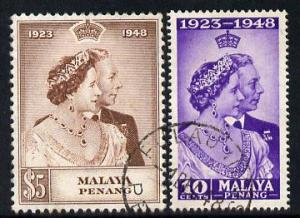 Malaya - Penang 1948 KG6 Royal Silver Wedding perf set of...