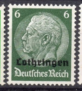 Germany Lothringen Optd 1940 Early Issue Fine Mint Hinged 6pf. NW-05254