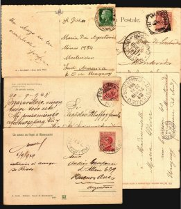 Italy 5 old ca1900 postcards with unusual postmarks TPO & cancel ambulante etc