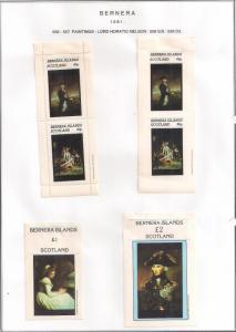 SCOTLAND - BERNERA - 1981 - Lord Nelson - 2v Perf, Imperf, Min, D/L Sheetx - MLH