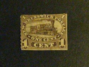 New Brunswick #6a unused brown violet no gum spacefiller a1910.9784