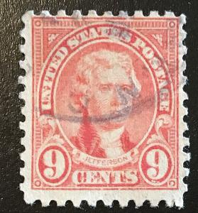 590 1922 Americans Series, 10x10 perf., Circ. single, Vic's Stamp Stash